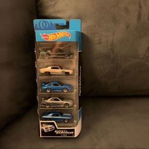 Hot wheels set of 5 Fast and Furious cars